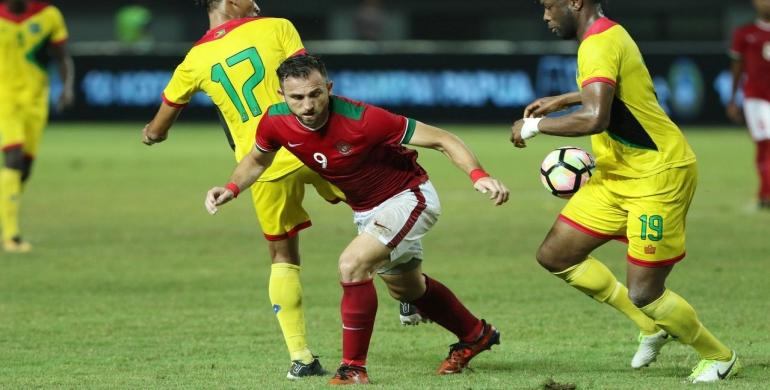 Spaso Borong Dua Gol, Timnas Indonesia Menang Tipis Atas Guyana