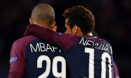 Kylian Mbappe dan Neymar, 22 November 2017